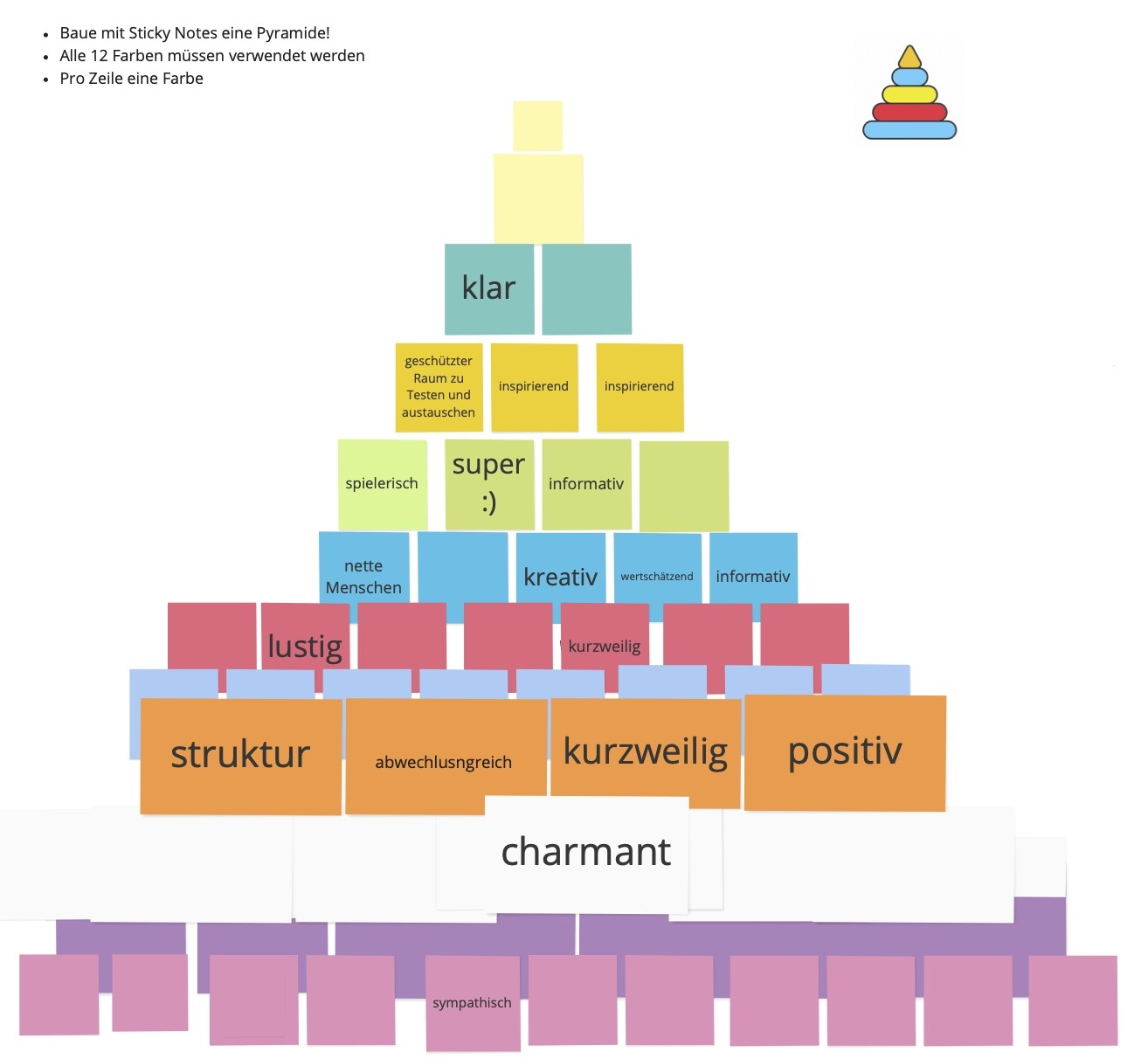 A Pyramide from Post Its
